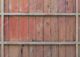 Old Wooden Fence With The Metal Frame Stock Photo C Trainman32 122763214