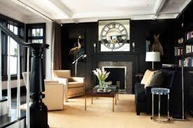 21 black wall living room ideas