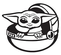 Baby Yoda Sticker Stuck On Maui