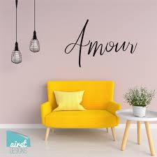 Amour Vinyl Decal Wall Art Home Decor Sticker French Love Girls Tw Airetgraphics