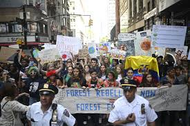 new york climate strike thousands of