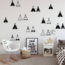Modern Tribal Forest Wall Stickers Waterproof Vinyl Wall Decor For Kids Rooms Home Decor Wall Decals Creative Stickers Murals Wall Stickers Aliexpress