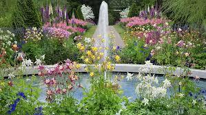 hd wallpaper flower garden fountain hd