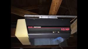 craftsman garage door opener 1 2 hp