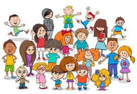 Vektorová grafika vtipné děti kreslené postavy skupiny #195736996 ...