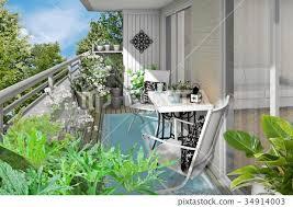 Veranda garden 5 - Stock Illustration [34914003] - PIXTA