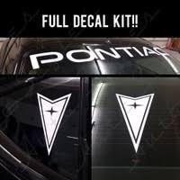 Pontiac Windshield Vinyl Decal Sticker Window Machine Wish