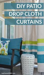 simple diy outdoor curtains tutorial