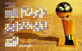 nba lakers 2009 10 schedule 1
