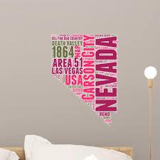 Nevada Usa State Map Wall Decal Wallmonkeys Com