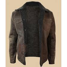 tan brown distressed leather jackets