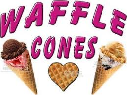 Waffle Cones Ice Cream Vinyl Decal Choose A Size Stands Boardwalk Shops Ebay