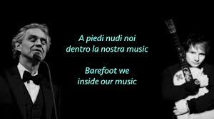 Ed Sheeran, Perfect Symphony ft. Andrea Bocelli (lyrics ...
