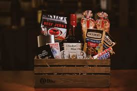the man cave gift basket bourbon gift