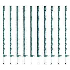 Green Fence Posts 10 20 50x Poly Fencing Electric Fence Horse Paddock Stakes Uk Ebay