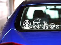Star Wars Family Car Decal Star Wars Decal Car Decal Etsy