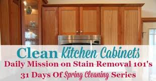 clean kitchen cabinets off with these