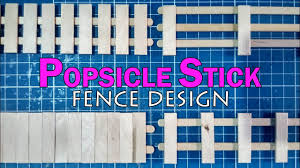 Popsicle Stick Miniature Fence Part 1 Diy Full Tutorial Youtube