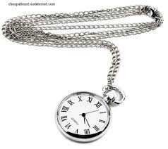 long necklace with small pocket watch