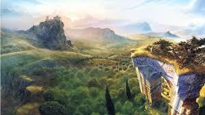 lovely painting landscape desktop pc