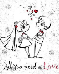 cute love sketch stock vectors royalty