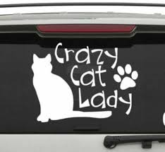 Crazy Cat Lady Vinyl Decal For Cars Walls Tumblers Cups Laptops Animal Ebay