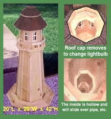 lighthouse outdoor garden yard lawn