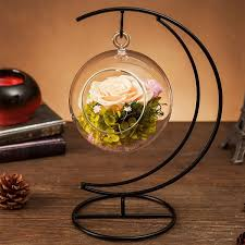 forever love rose ball with metal stand