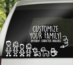 Custom Family Car Decal Stick Figure Family Decal Custom Etsy