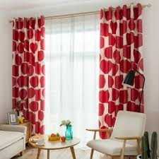Hipster Red Apple Funny And Cute Modern Chic Kids Room Girls Room Curtain Curtainlinen Com