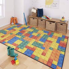 Mohawk Home Prismatic Building Blocks Area Rug Yellow Area Rugs Carpets For Kids Plush Area Rugs