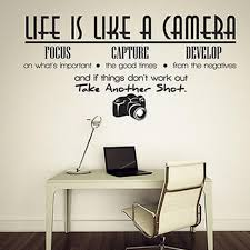 Life Is Like A Camera Wall Art Vinyl Decal Geek Inventory