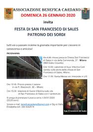 Festa di San Francesco di Sales 26 gennaio 2020
