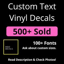 Custom Vinyl Lettering Diy Custom Vinyl Decal Your Name Here Customizable Vinyls Name Decals Social Media Name Decal In 2020 Custom Vinyl Lettering Vinyl Lettering Vinyl Lettering Diy