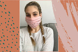 Face Mask With A Bandana and Hair Ties ...