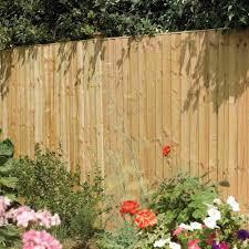 Rowlinson Vertical Board Pressure Treated Fence Panel Garden Street