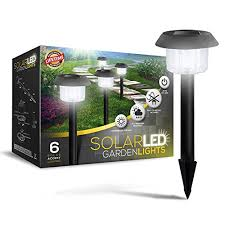 6 led solar powered garden lights