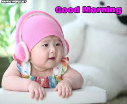 good morning wishes with baby pictures