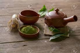 Matcha Green Tea And Japanese Tea Set. Ceramic Teapot And A ...