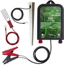 Xstop Ba80 12v Battery Powered Electric Fence Energiser Plus Leads And Earth Stake 10km Range 0 6j Ce Rohs Amazon Co Uk Garden Outdoors
