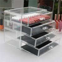 clear makeup box drawers uk