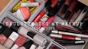 decluttering my makeup collection loepsie