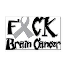 Fuck Brain Cancer Rectangle Car Magnet By Cuddleswithcats Cafepress