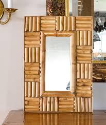 bamboo framed mirror bamboo boho chic