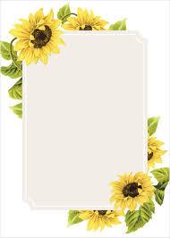 Sunflower Frame Wedding Invitations Convites Do Casamento De