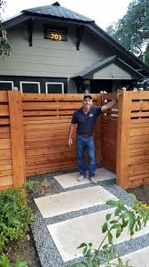 Custom Wood Fence Austin Tx Horizontal Cedar Picket Fences Sierra Fence Inc