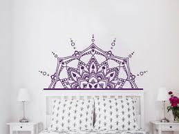 Half Mandala Wall Decal Headboard Master Bedroom Boho Bohemian Decor Vinyl Nv20 Ebay