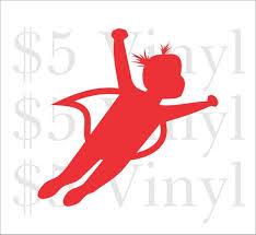 Super Babygirl Flying Medium Large Vinyl Car Decal Superman Etsy