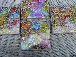 colorful tempered glass mosaic tile