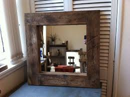 bathroom mirror handmade rustic